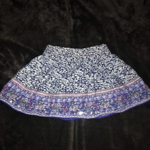 Blue patterned children's place skirt/skort
